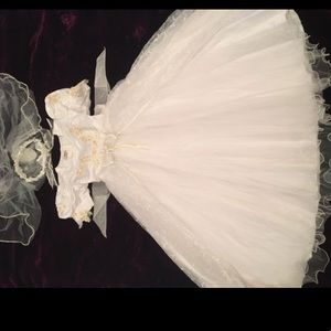Other - Baptism First Communion Girl's White Dress 💓👑